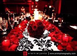 Red Black And Silver Wedding Decoration Ideas Invitation