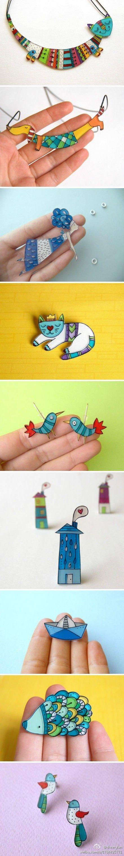 divertirsi con la plastica termoretraibile | Day Wedding Day PinsWedding Pins