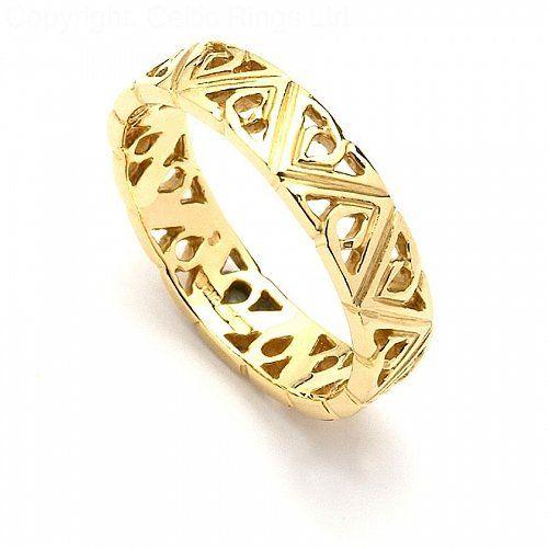 Macha Trinity Knot Wedding Band (C-3863-1) | Celtic Wedding Rings ...