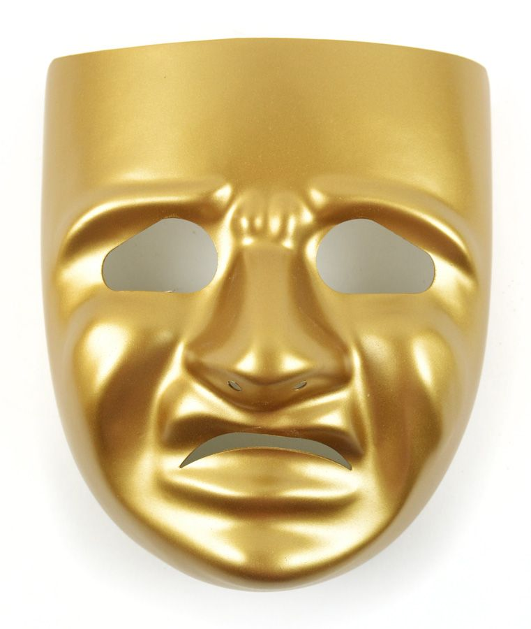 Tragedy Mask with Instruction Sheet Gold NEW at CFF Store! #crafts ...