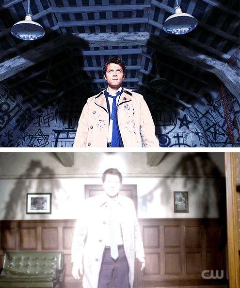 Supernatural Lucifer Rising Season 4: [gifset] 4x01 Lazarus Rising Vs 10x18 Book Of The Damned