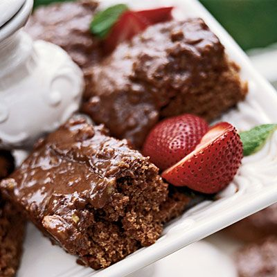 Chocolate Coca-Cola Cake travels well AND will make your tailgate goers drool.