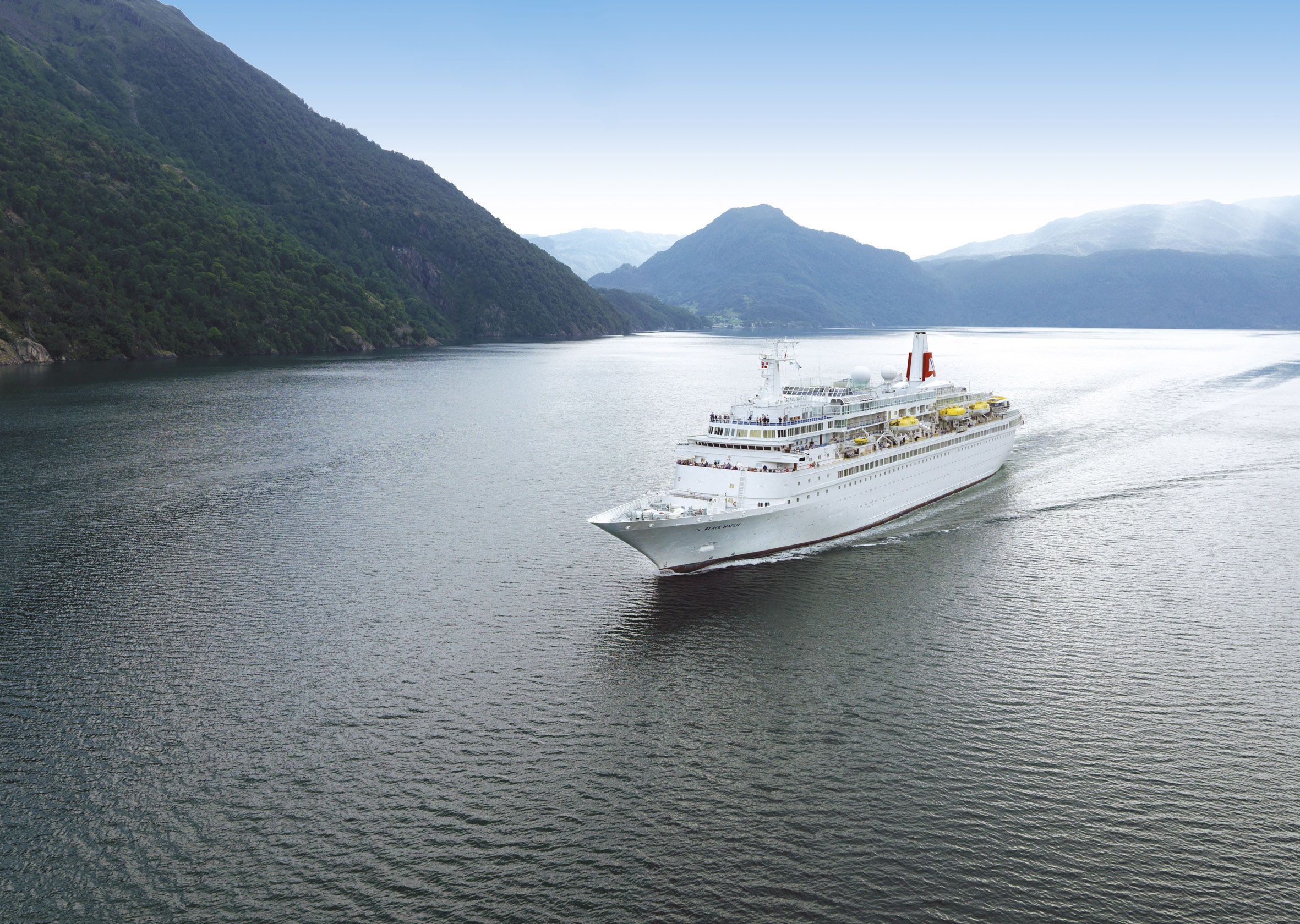 Black Watch cruise ship, cruising the Norwegian Fjords - Fred. Olsen Cruise Lines