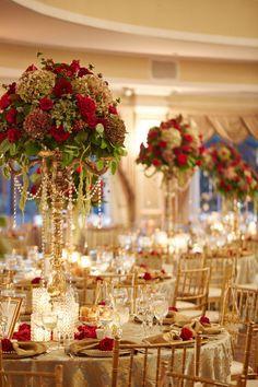 RED GOLD WEDDING   Wedding Decor   Pinterest   Wedding, Reception ...