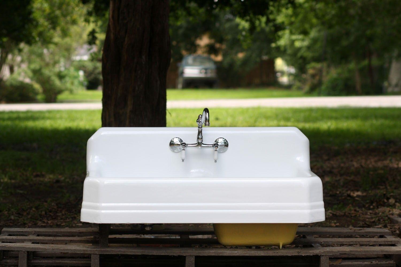 1938 Depression Era Porcelain on Cast Iron sink refinished by ...