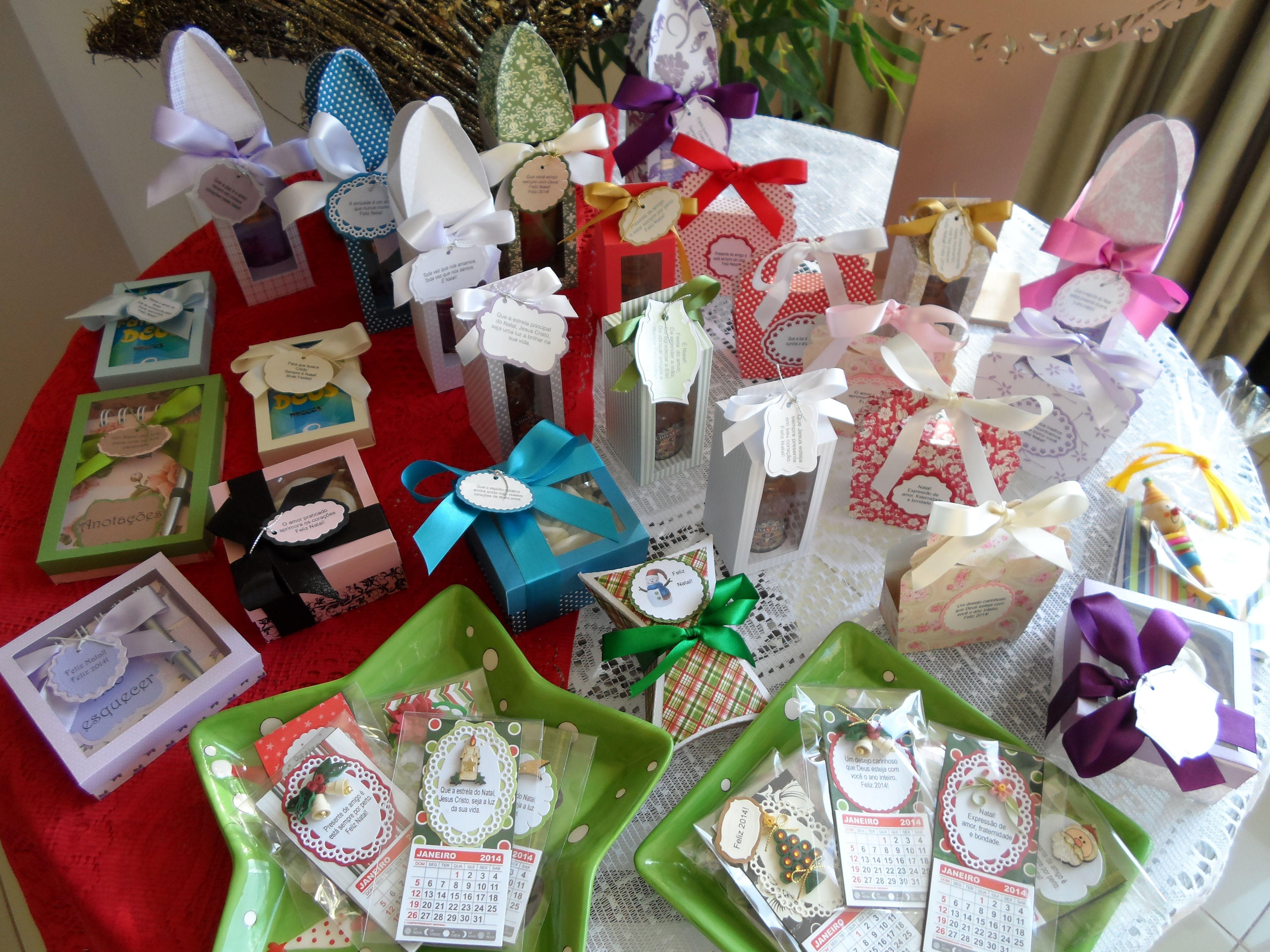 Mimos de Natal produzidos por Mônica Guedes