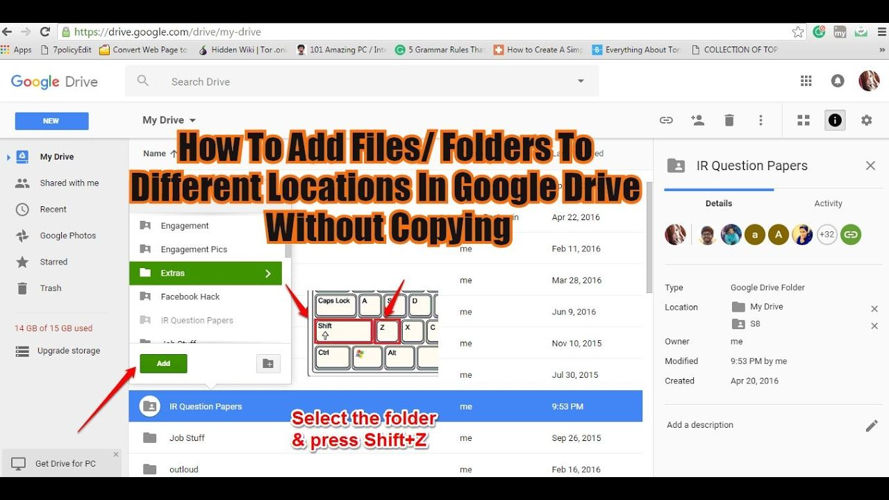 How To Add Files/ Folders To Different Locations In Google