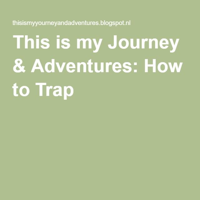 This is my Journey & Adventures: How to Trap