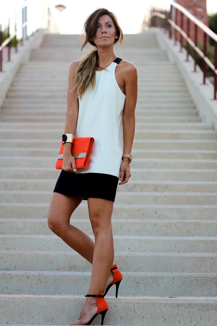 kleider für standesamt 5 besten | Colorblock dress, Purse and Black ...