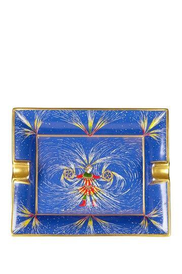 Vintage Hermes Porcelain/Limoges Ashtray with Man & Fireworks by Vintage Favs on @HauteLook