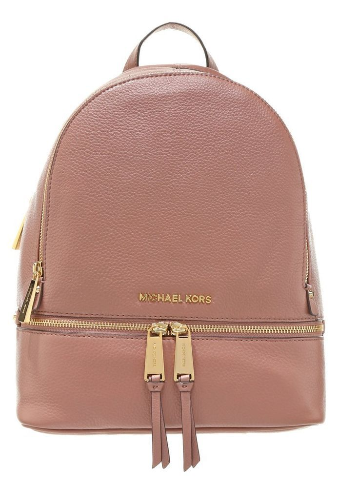 3a45123978c5 NWT NEW Authentic Michael Kors Leather Rhea Small Backpack Bag ~Dusty Rose   MichaelKors  BackpackStyle