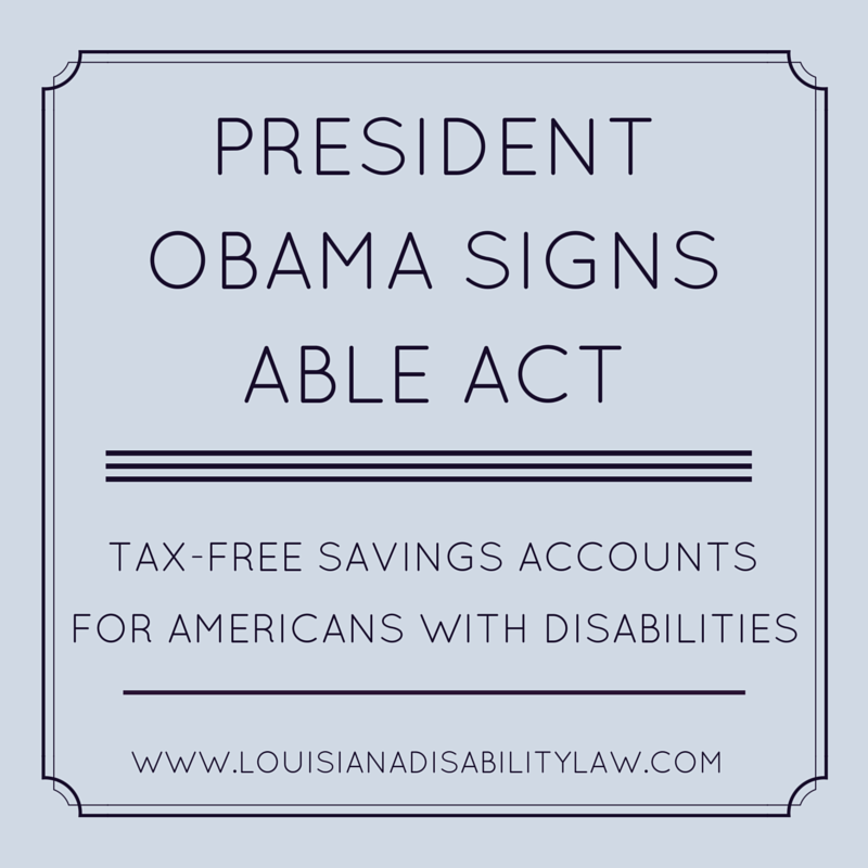 Dreams of TaxFree Savings Accounts for Disabled Americans