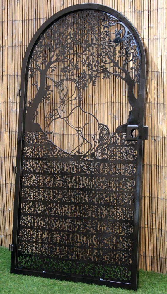 Artistic Metal Gate – Wild Unicorn Wall Panel – Magical Meta…