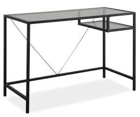 Just Home Black Glass Desk Big Lots Black Glass Desk Glass Desk Furniture