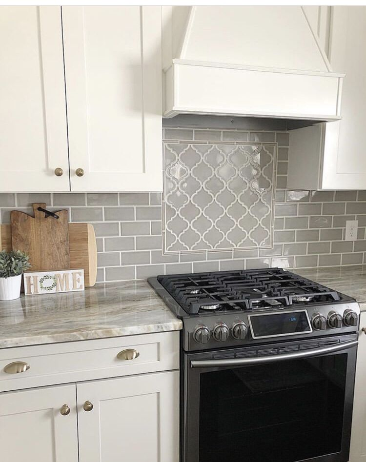 Beautiful Kitchen Backsplash Made With Our 3x6 Dove Gray