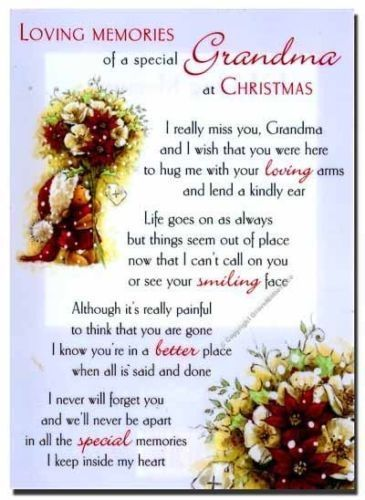 Missing Grandma At Christmas Time Miss You Family Quotes Heaven In