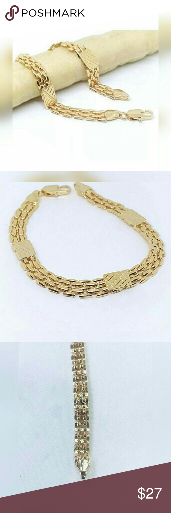 K gold filled mesh design bracelet womenus en my posh