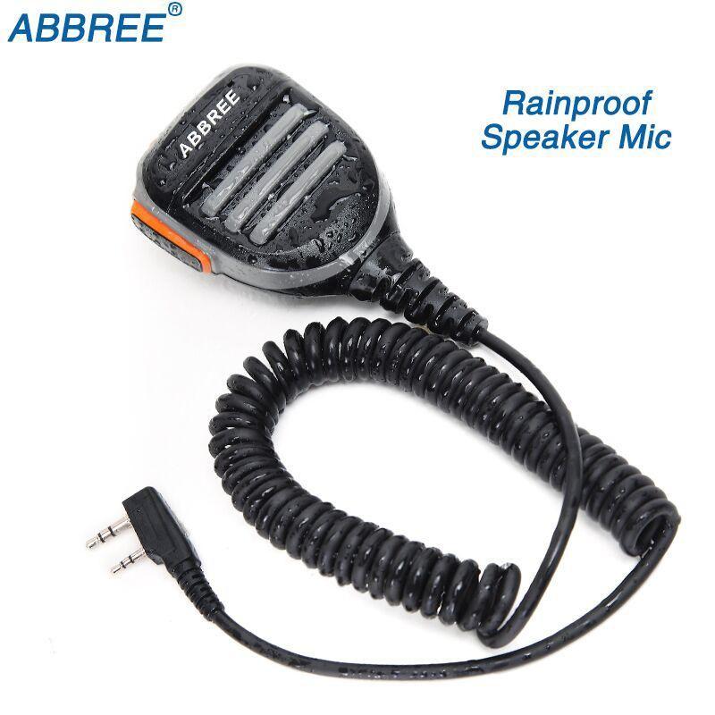 Rainproof 2-Pin Shoulder Remote Speaker Microphone PTT For Kenwood Baofeng UV-5R