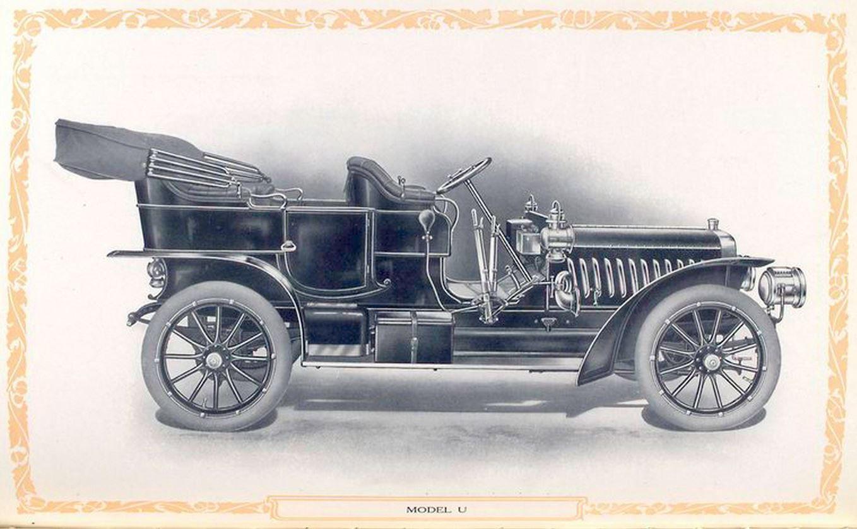 Stevens duryea model u light six model u touring car