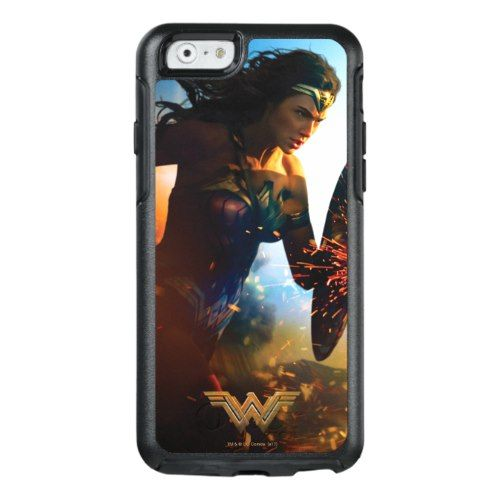 Wonder Woman Running on Battlefield OtterBox iPhone 6 6s Case ... 6b08fe27d6