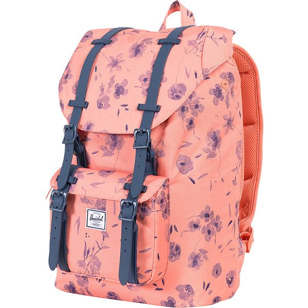 Herschel Supply Co. Little America Mid-Volume Laptop Backpack ( 72) ❤ liked  on Polyvore featuring bags, backpacks, laptop backpacks, orange, red bag,  ... 6dcba50d12