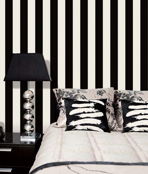 Best Napoleon Black White Stripe 6 5Cm With Images Bedroom 400 x 300