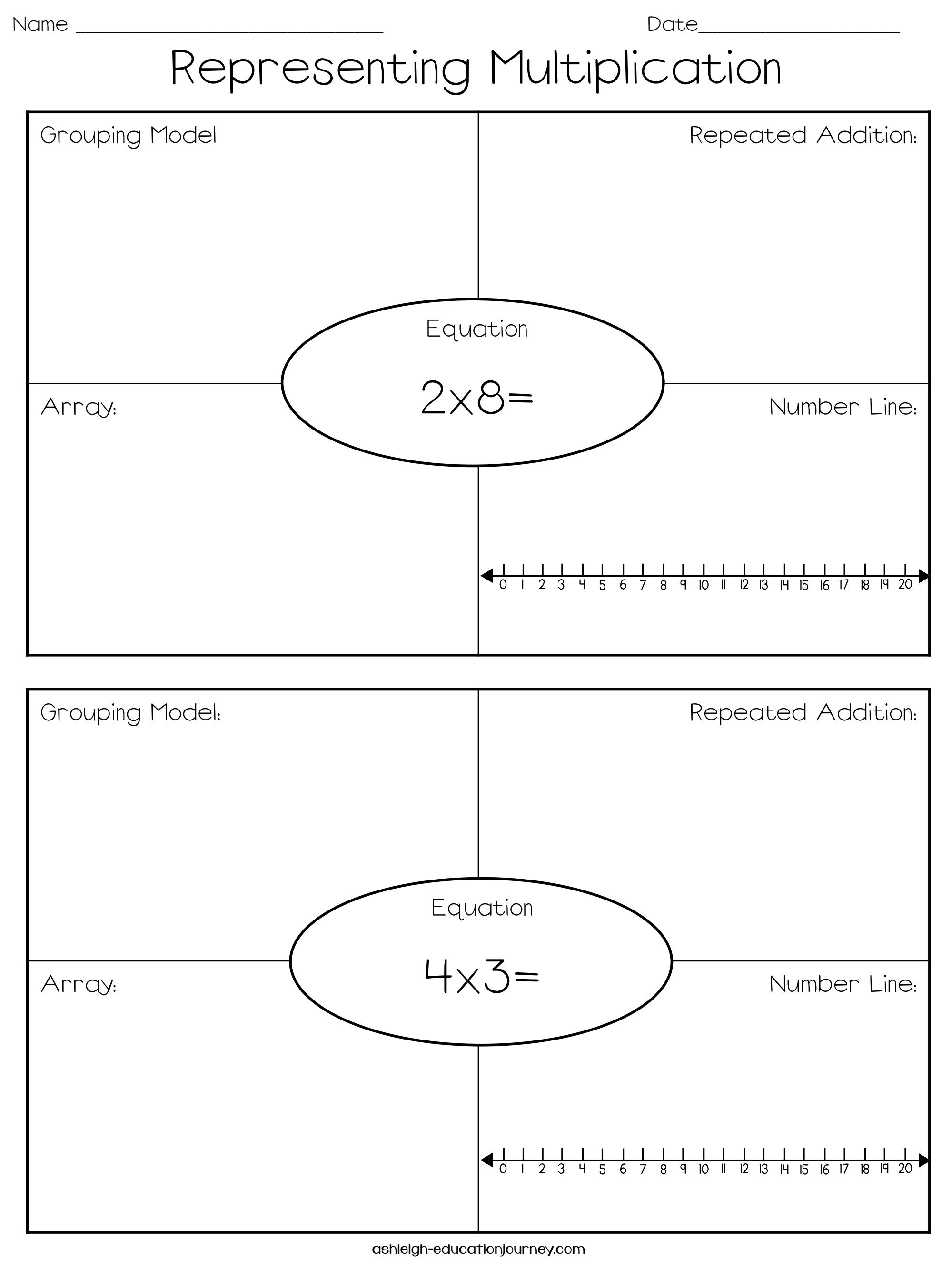 M Multiplication Arrays Worksheets Grade 2