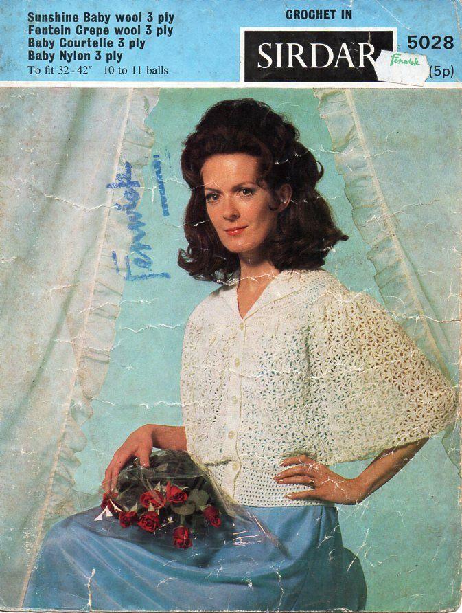 Womens Crochet Bedjacket Pattern Crochet Pattern Pdf Download Ladies