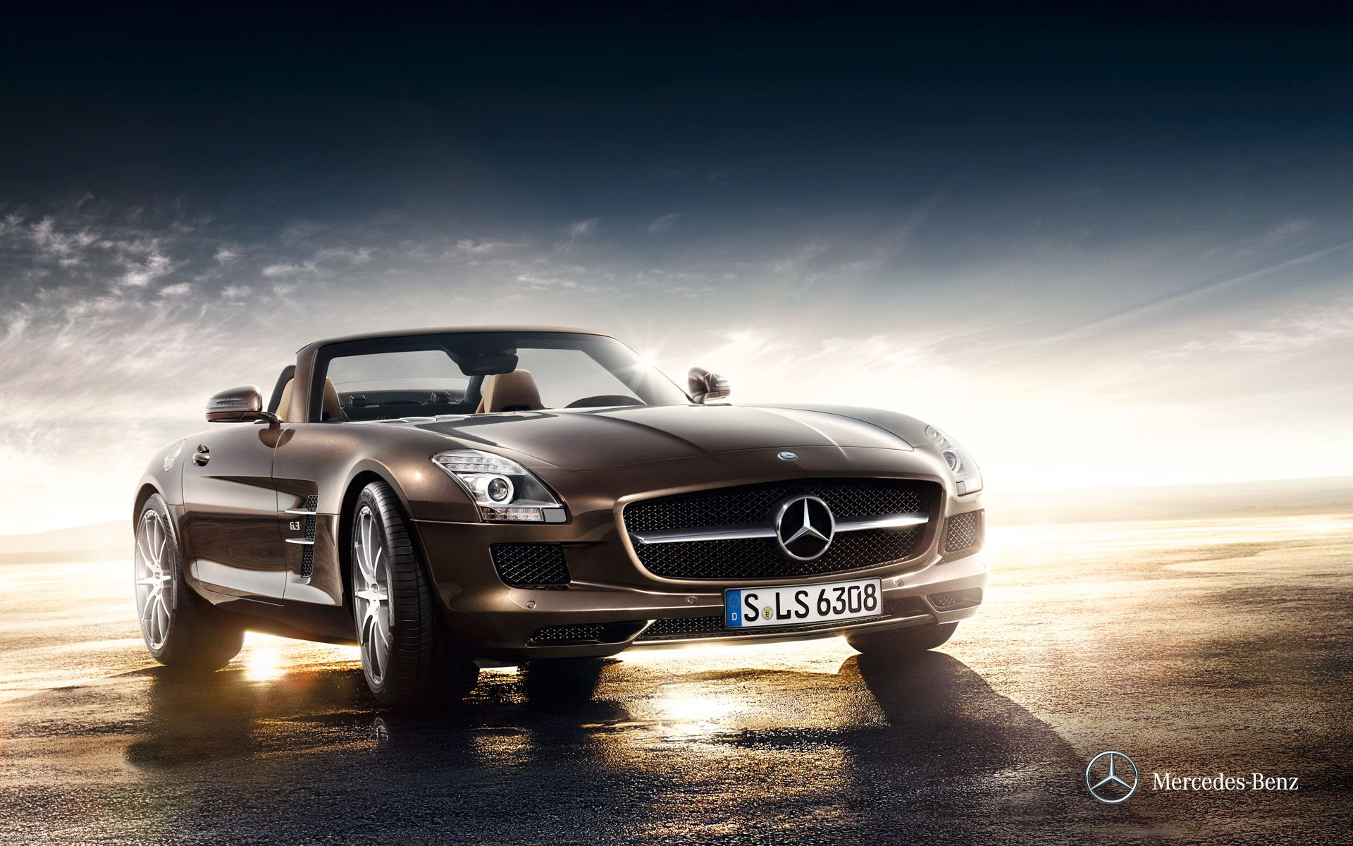 Mercedes Benz Sls Amg Roadster Wallpaper Though Its Sheetmetal