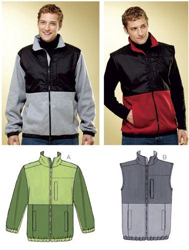 sewing project...mens fleece jacket | Getting crafty | Pinterest ...