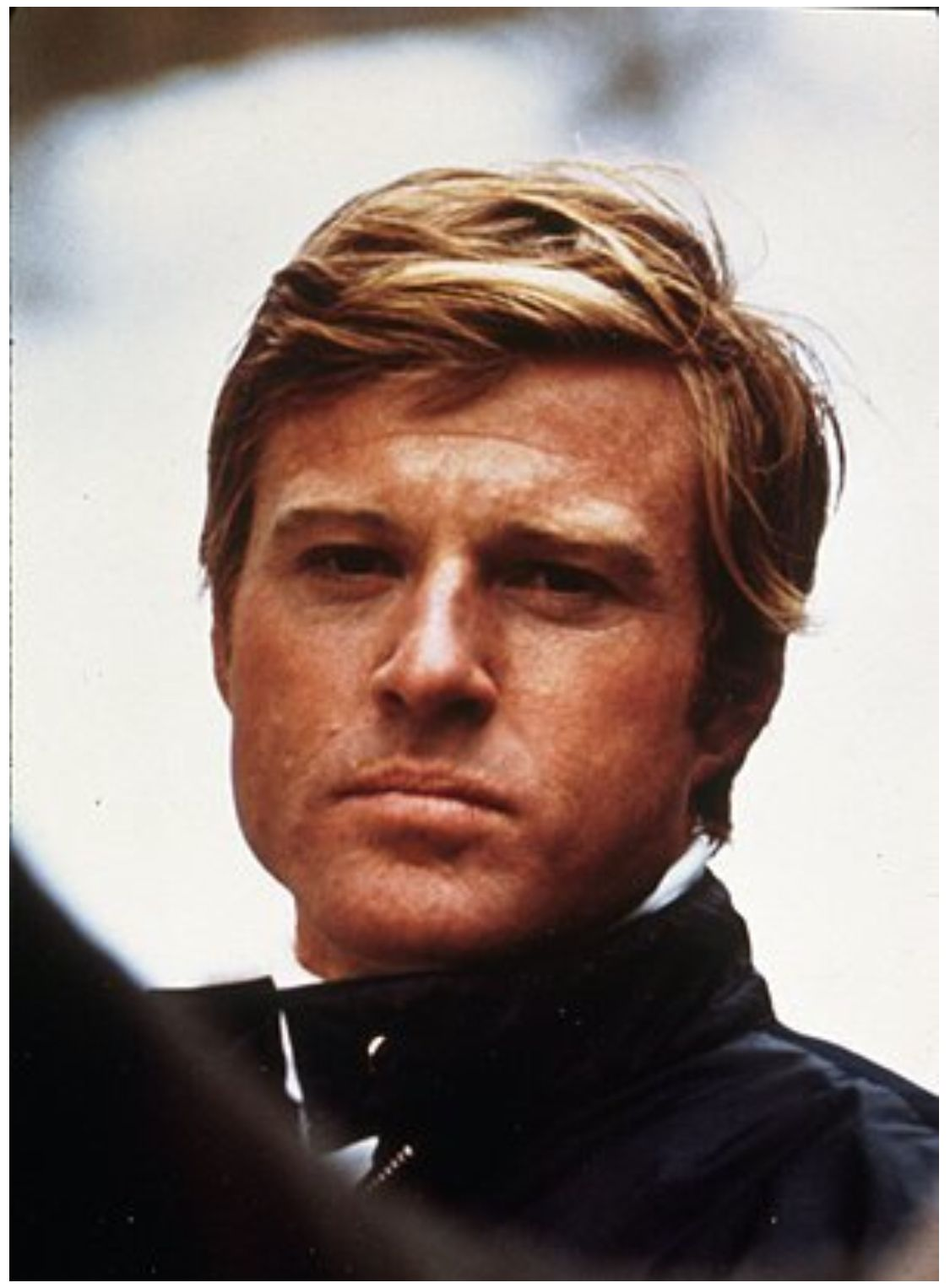 robert redford on location for his 1969 film, the downhill