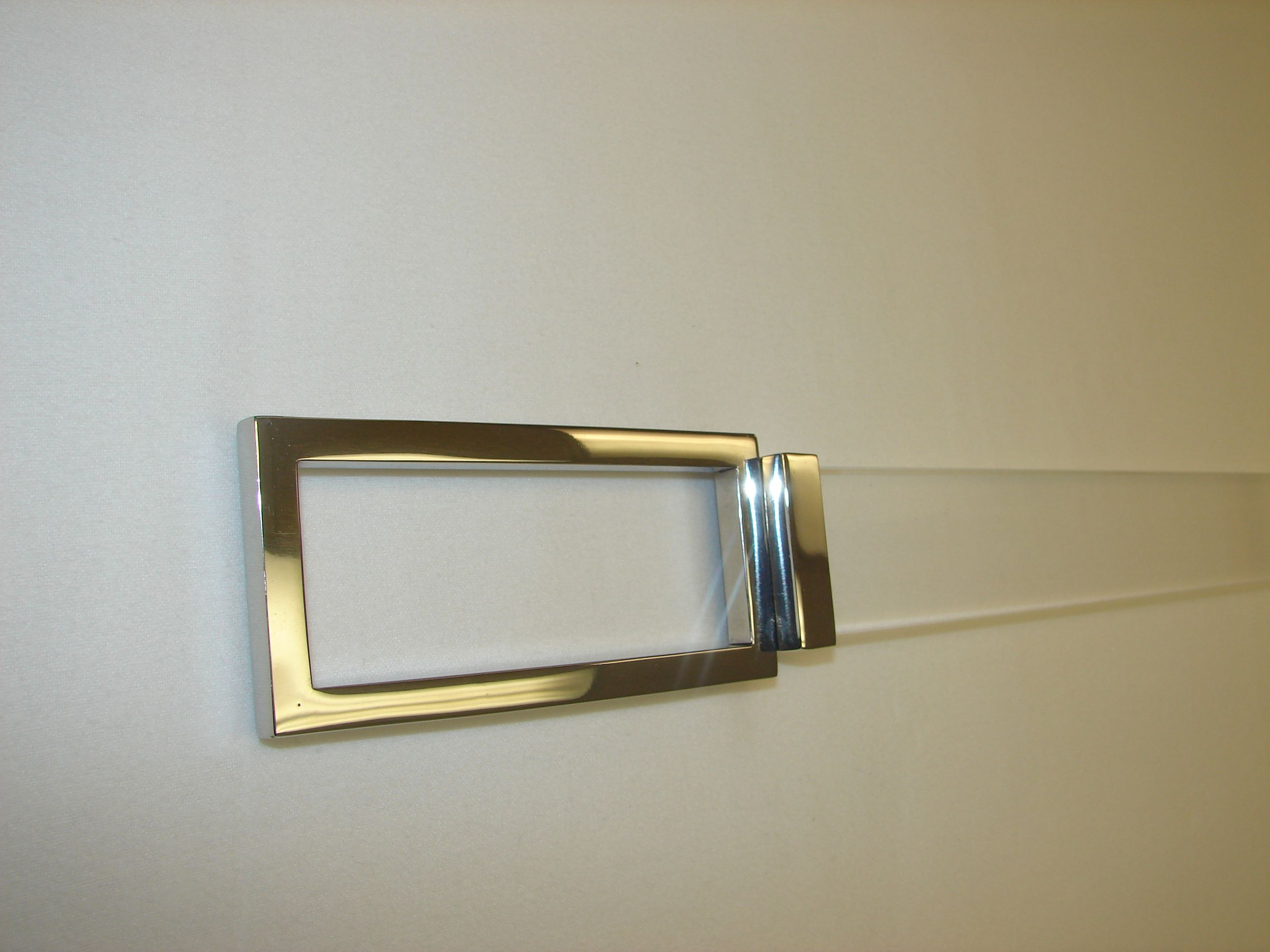 Acrylic curtain rod - Rectangular Nickel Plated Finial On Acrylic Rod Available To The Trade