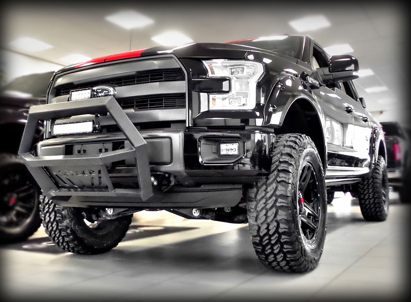 2015 kentwood kustoms lariat black widow edition supercrew with ecoboost mods include procomp lift kit paint to match bushwacker flares