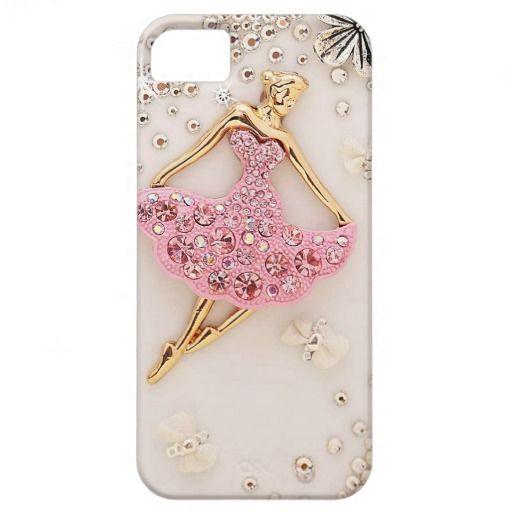 Elegant Girly Pink White And Gold Ballet Dancer Pink Iphone Cases Pink Iphone Iphone Case Covers