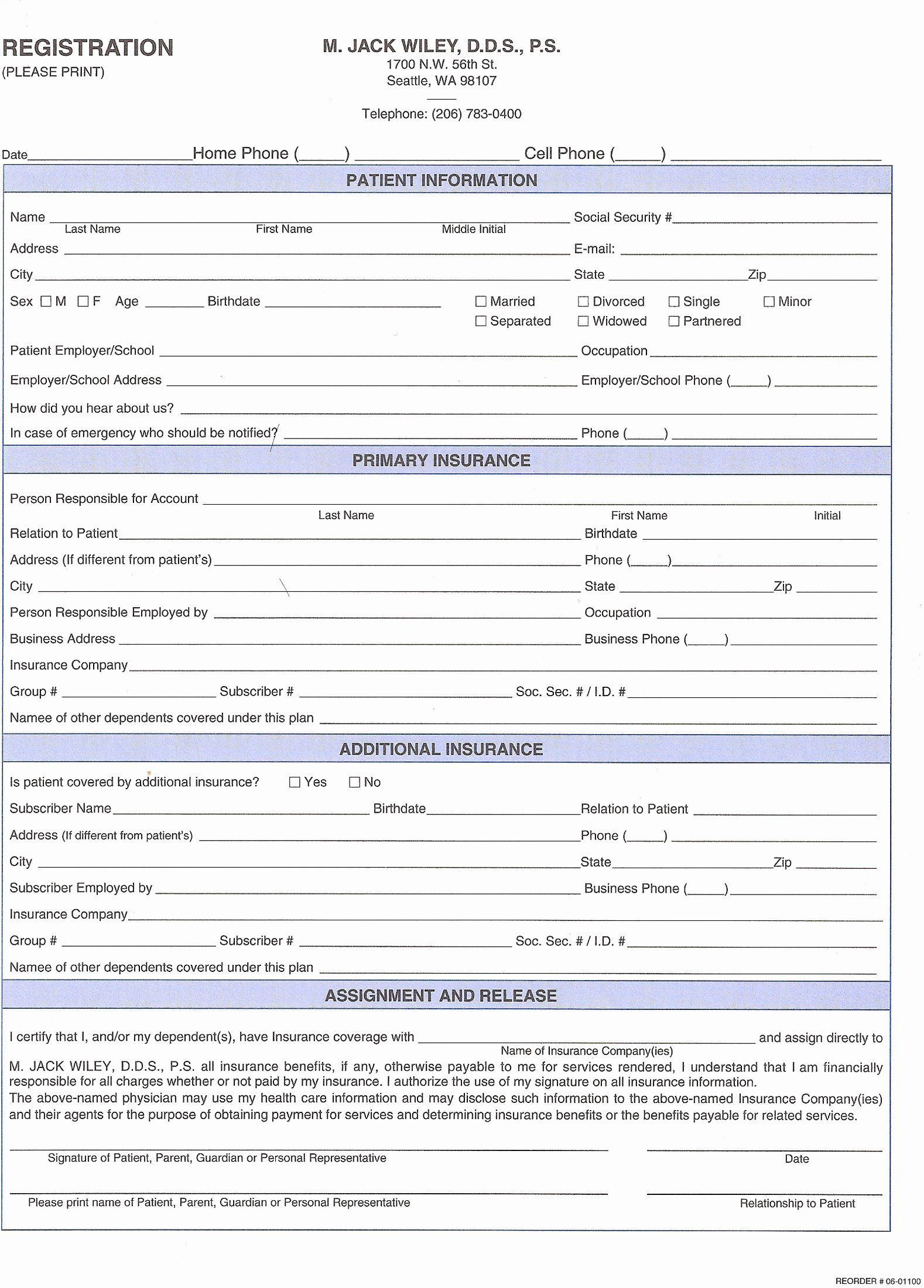 Dental Patient Forms Template Inspirational 27 Of Dental