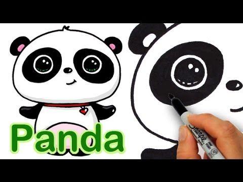 How To Draw A Cute Panda Easy Animal Drawings Cute Animal