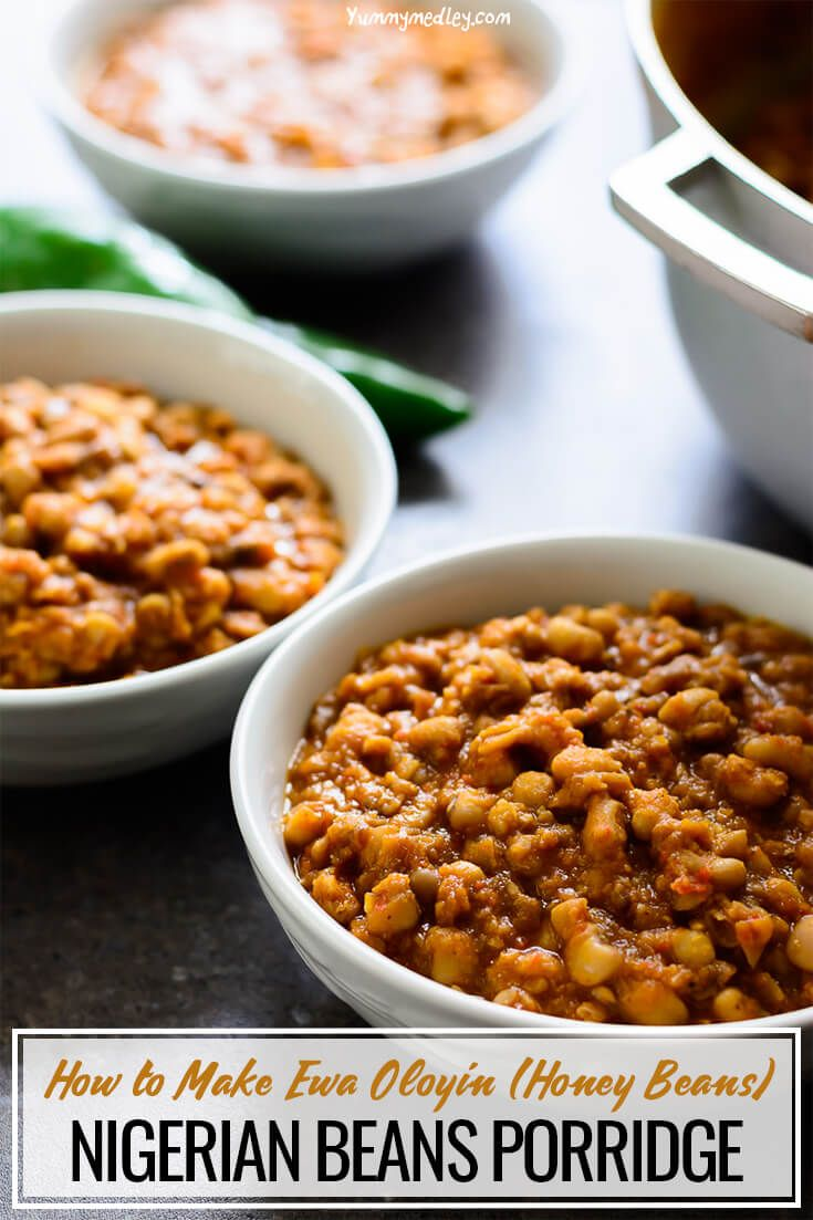 Nigerian Beans Porridge Recipe Food recipes, Nigerian
