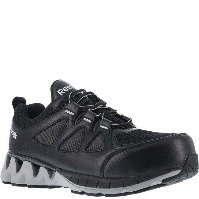 af976ee7e367 RB3010 Reebok Men s Zigkick Safety Shoes - Black Grey www.bootbay ...