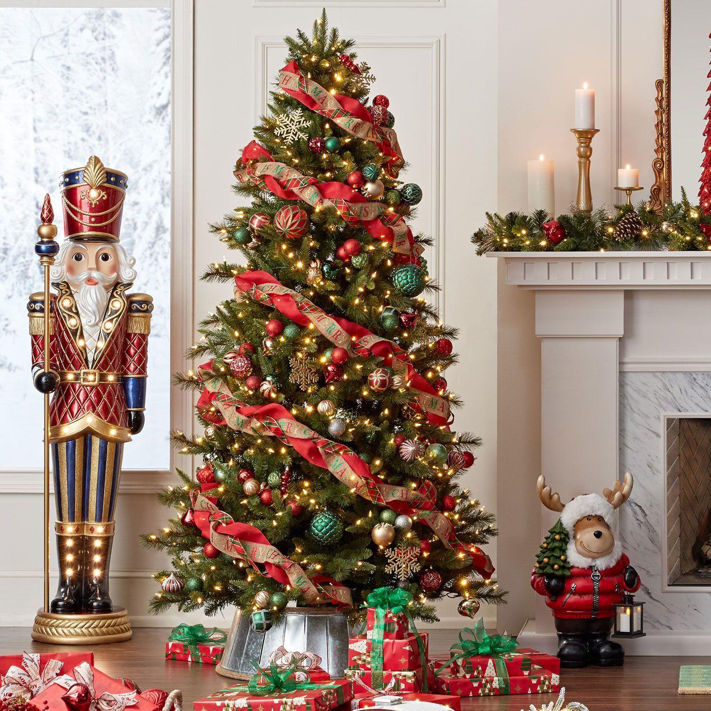 Member S Mark 7 5 Grand Spruce Christmas Tree Sam S Club Fun Christmas Decorations Christmas Tree Inspiration Gold Christmas Decorations
