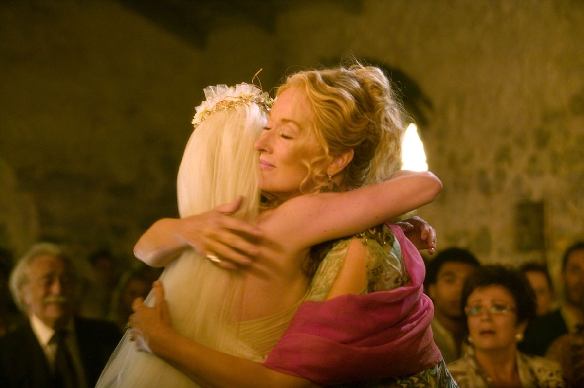 2008 Mamma Mia Production Stills 2008 Merylstreep