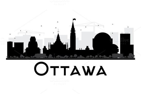 Ottawa City Skyline Silhouette City Skyline Silhouette Skyline Silhouette Ottawa City