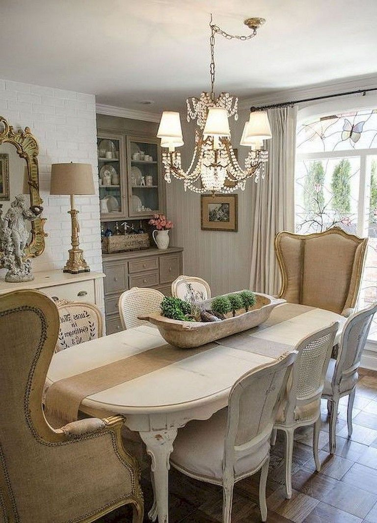 76 Marvelous French Country Dining Room Decor Ideas French