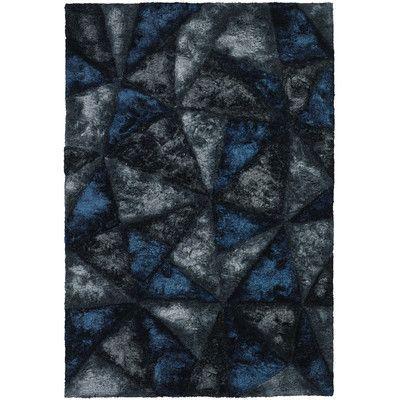 "Chandra Flemish Shag Dark Grey Area Rug Rug Size: 7'9"" x 10'6"""