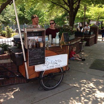 The Coffee Pedlar - Asheville, NC, United States. Ryan's cart that hooks up to the back of his bike. He's the Pedlar!