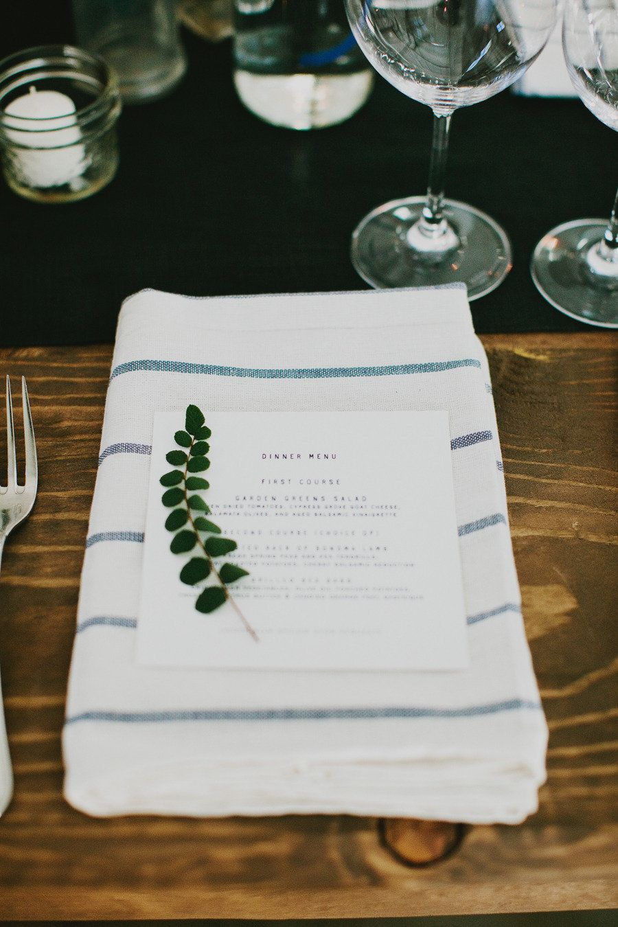 ELLY dish towels, $3.99/4 pack These look a heck of a lot more chic than plasticky rented napkins for right around the same price (you can get two dinner napkins from each towel), just check out this Style Me Pretty wedding. Photography: Milou + Olin Photography - milouandolin.com Event Planning, Styling + Stationery: Bash, Please - bashplease.com/ Catering: Paula Le Duc Fine Catering - paulaleduc.com/   Read More on SMP: http://stylemepretty.com/vault/gallery/13462