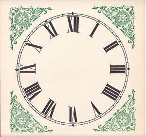 Clock Paper Dials Papper Clock Dial Clock Face