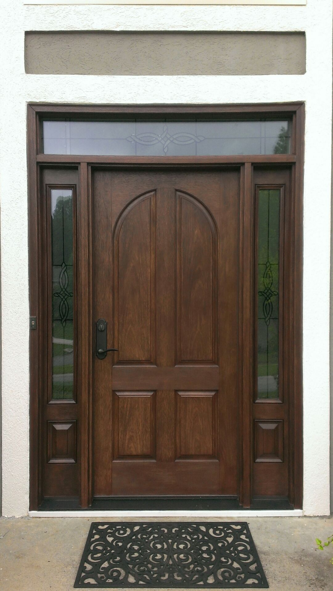 New therma tru classic craft door with longford glass for Therma tru front door
