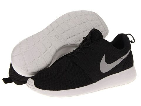 Nike Roshe Run Black/Gamma Grey/Hyper Blue/Medium Grey - Zappos.