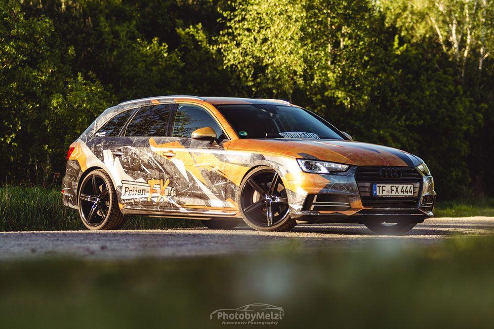 Audi A4 Digitaldruck Folierung