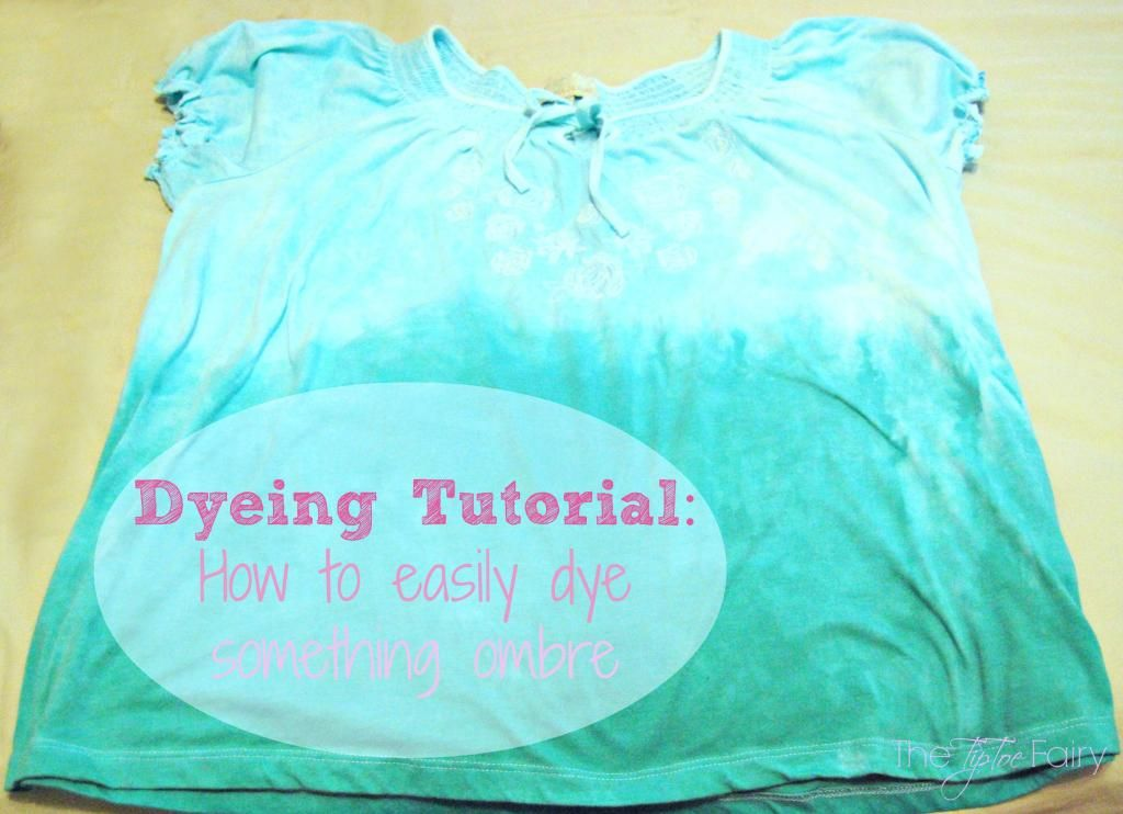 Ombre Dyeing Tutorial #dyeingtutorials